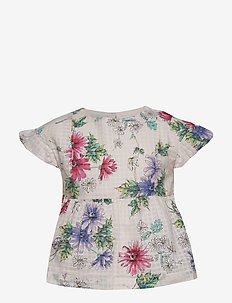 Kids Print Peplum Top - chemisiers & tuniques - ivory frost