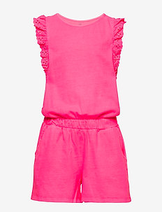 Kids Eyelet Romper - kombinezon - pink pop neon