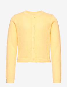 Kids Eyelet Cardi Sweater - gilets - havana yellow