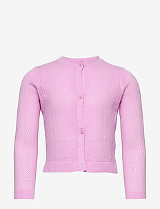 Kids Eyelet Cardi Sweater - gebreide vesten - lavender pink