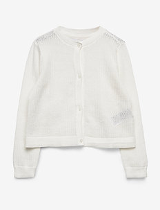 Kids Eyelet Cardi Sweater - gilets - new off white