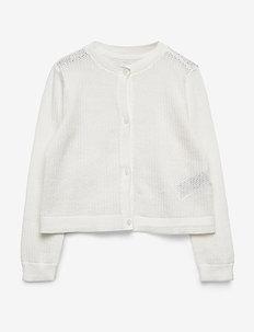 Kids Eyelet Cardi Sweater - cardigans - new off white