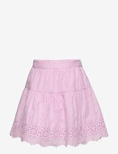 Kids Eyelet Tiered Skirt - spódnice - lavender pink