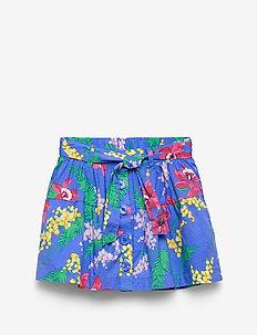 Kids Floral Flippy Skirt - skirts - belle blue