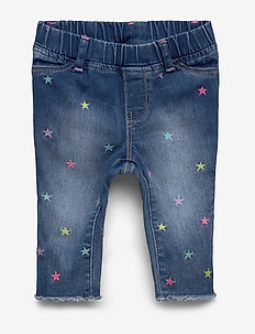 Toddler Embroidered Jeggings with Stretch - jeans - amour a starlight