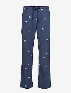 Pajama Pants in Poplin - bottoms - bulldog puppy