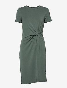 Twist-Knot Dress in TENCEL™ - NEW VINTAGE GREEN