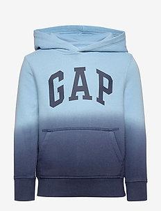 Kids Dip-Dye Hoodie Sweatshirt - BLUE DIP DYE