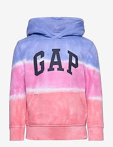 Kids Dip-Dye Hoodie Sweatshirt - RAINBOW TIE DYE