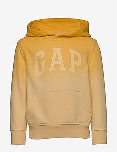 Kids Dip-Dye Hoodie Sweatshirt - YELLOW TIE DYE