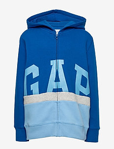 Kids Gap Logo Colorblock Hoodie Sweatshirt - pulls à capuche - blue edge