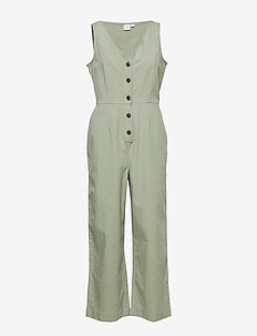 TENCEL™ Button-Front Jumpsuit - jumpsuits - douglas fir