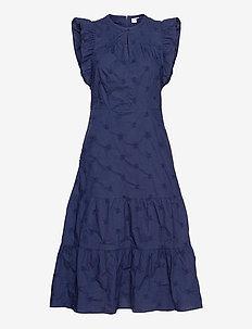 Flutter Midi Dress - robes longeur du midi - navy uniform