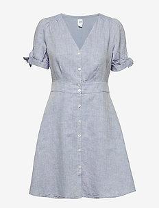 Tie-Sleeve Dress - robes longeur du midi - light blue