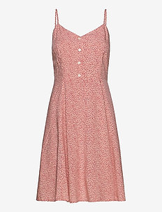 Cami Fit & Flare Dress - robes longeur du midi - pink floral