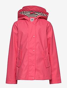 Kids Jersey-Lined Raincoat - jakker - pink pop neon