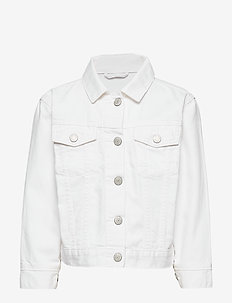 Kids Denim Jacket in Stain Resistant - denim & corduroy - white denim