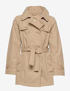 Kids Trench Coat - jakker - cargo khaki