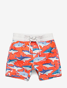 Toddler Shark Swim Trunks - badebukser - neon dark orange