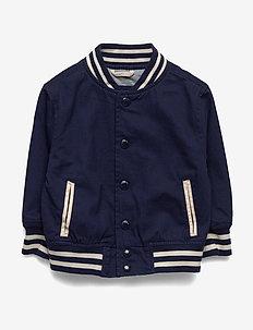 Toddler Varsity Bomber Jacket - MILITARY BLUE V2