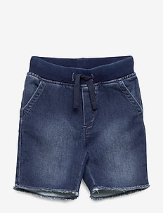 Toddler Denim Pull-On Shorts with Stretch - shorts - dark wash