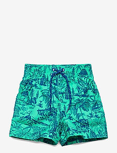 Toddler Dino Swim Trunks - badebukser - siren green 287