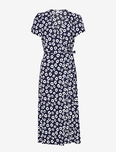 Midi Wrap Dress - wrap dresses - navy floral