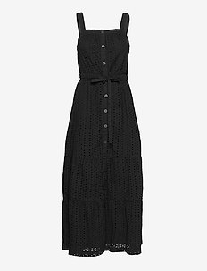 Apron Maxi Dress - maxi dresses - true black v2 3