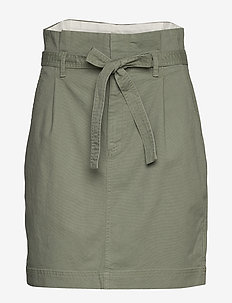 Paperbag Mini Skirt in TENCEL™ - jupes midi - douglas fir