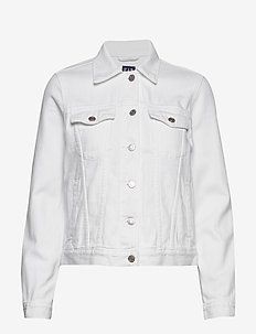 Icon Denim Jacket - vestes en jean - optic white