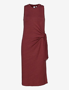 Softspun Tie-Front Midi Dress - wrap dresses - apple butter 18-1426t
