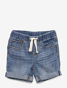 Baby Pull-On Denim Shorts - shorts - medium wash