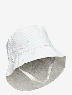 Baby Reversible Bucket Hat - chapeau de soleil - light blue shadow