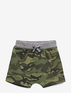 Baby Camo Kanga Pull-On Shorts - shorts - new juniper green