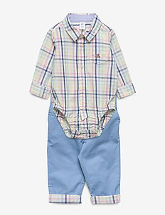 Baby Dressy Plaid Outfit Set - 2-teilige sets - light blue shadow