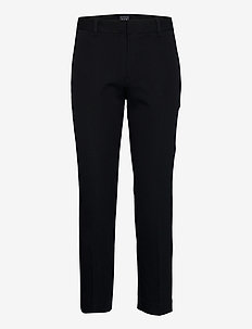 Mid Rise Slim Ankle Pants - spodnie proste - true black v2