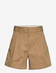 "5"" Pleated Khaki Short - chino shorts - mojave 235"