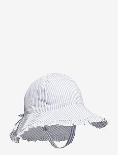 Baby Stripe Flutter Hat - BLUE STRIPE