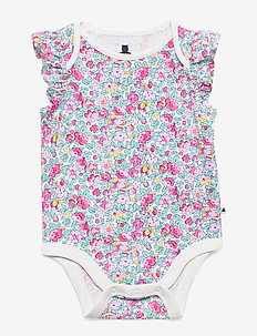Baby Print Ruffle Bodysuit - kortærmede - new off white floral