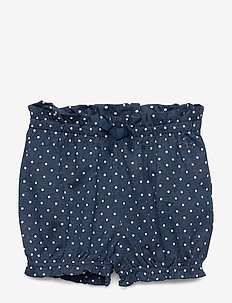 Baby Print Bubble Shorts - NAVY HEATHER