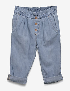 Baby Paperbag-Waist Pull-On Jeans - jeans - light wash