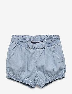 Baby Denim Bubble Shorts - shorts - medium wash