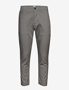 SPRING MENSWEAR TROUSER - pantalons habillés - grey heather/white