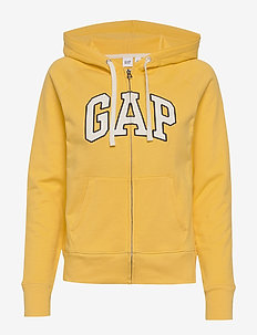 Gap Logo Carbonized Full-Zip Hoodie - COUNTRY YELLOW 574