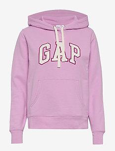 Gap Logo Carbonized  Pullover Hoodie - LAVENDER PINK