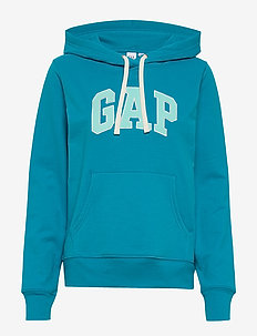 Gap Logo Carbonized  Pullover Hoodie - SURF PIPE BLUE