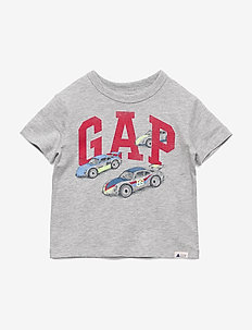 Toddler Gap Logo Graphic T-Shirt - LIGHT HEATHER GREY
