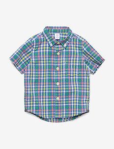 Toddler Plaid Poplin Short Sleeve Shirt - chemises - multi plaid