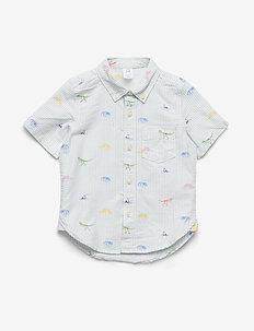 Toddler Dino Print Oxford Shirt - chemises - new off white