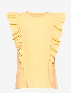Kids Cascade Ruffle T-Shirt - Ærmeløse - havana yellow